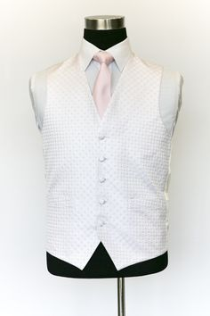 Pink Ritz Waistcoat with Light Pink Tie Wedding Waistcoats, Pink Ties, Vest, Suits, Jackets, Collection, Dresses, Fashion, Down Jackets