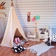 Kidsroom, tipi tent, ferm living, brio. Moozlehome teepee tent.