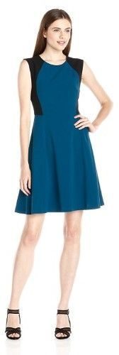 Nine West Sleeveless Colorblock Fit & Flare Dress