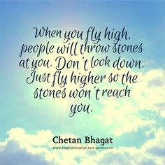 When You Fly High - Inspirational Picture Quotes