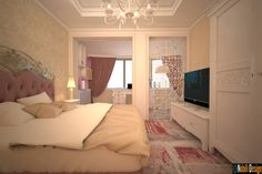 Proiect design interior casa clasica in Galati, Nobili Interior Design Decor, Apartment, Interior Design, Furniture, Bed, Home, Interior, Bedroom, Home Decor