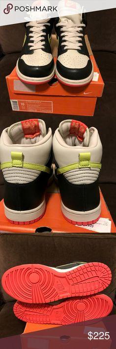 2005 Nike SB DUNK HI PACMAN BLACK LYMON BIRCH RED 2005 Nike SB DUNK HI PACMAN BLACK LYMON BIRCH RED PINK WHITE 306966-031 DS 10 W Shoes Athletic Shoes