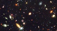From 342 exposures over 10 days, the Hubble Deep Field image revealed a dazzling array of almost 3,000 galaxies. Credit NASA and European Space Agency