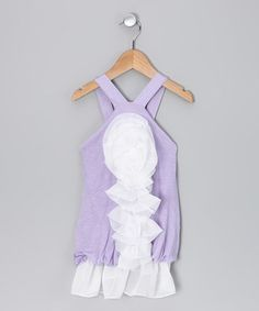 Purple Dress with Chiffon Flower - Infant, Toddler & Girls