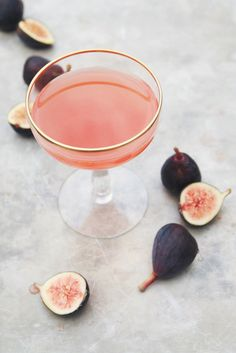 fig + thyme cocktail