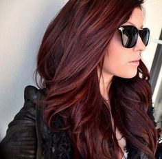Cherry brown hair color.