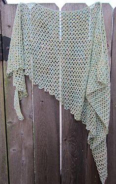 Matter - free crochet shawl pattern by Siew Clark. 'It is a sideways, asymmetrical triangle shawl.'