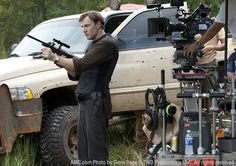 The Walking Dead Season 3 Behind the Scenes Photos  David Morrissey (The Governor) in Episode 10 #thewalkingdead