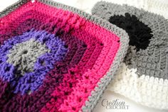 The Windmill Afghan Square a free crochet afghan square by Cre8tion Crochet