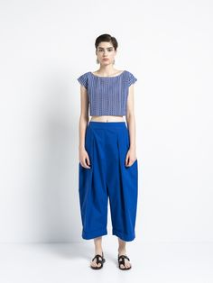 IOANNA KOURBELA TOP CYCLADIC LAND 20298-12915 Shirt Blouses, T Shirt, Unity, Greece, Pants, Tops, Women, Fashion, Supreme T Shirt