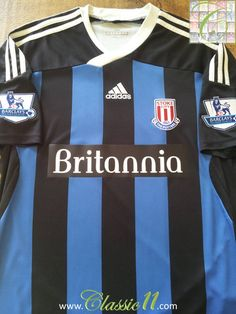 Relive Stoke City's Premier League season with this vintage Adidas away football shirt. Peter Crouch, Stoke City Fc, Bolton Wanderers, Queens Park Rangers, Vintage Football Shirts, Europa League, Vintage Adidas, European Football, Fa Cup