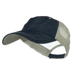 161182f4392 Ball Cap - Denim Beige Big Size Low Profile Cotton Cap