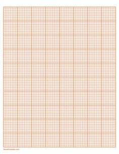 Printable 8 Squares Per Inch Orange Graph Paper for Letter Paper Graph Paper, Printable Paper, Squares, Free Printables, Lettering, Templates, Orange, Stencils, Free Printable