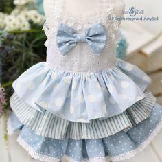 Bianca Designer Handmade dress for Pets / Free by JunyBell