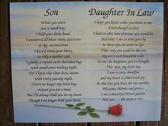 Mothers Day Verses From Son And Daughter In Law