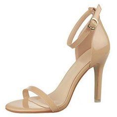 1a82bf54d63d Amazon.com  OCHENTA Women s Classic Dancing Stiletto High Heel Open Toe  Ankle Strap Sandals  Shoes
