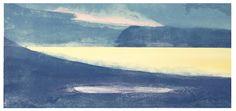 Tove Strømme - Fjord (sort ramme)