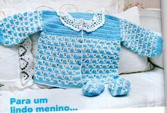 Crochet Baby : Casaquinho de crochet para bebê.