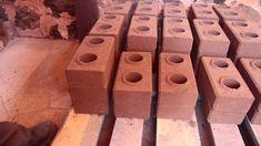 Proceso de fabricación de los ladrillos ecológicos.