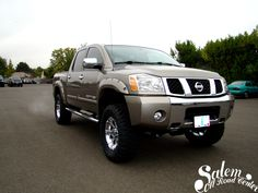 "A 2008 Nissan Titan with a 6"" Fabtech lift with Dirt Logic front coil overs and rear shocks. www.salemoffroadcenter.com"