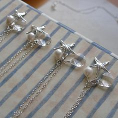 Under the Sea  Four Sterling Silver Bridesmaids by TheSparkleTree, $160.00