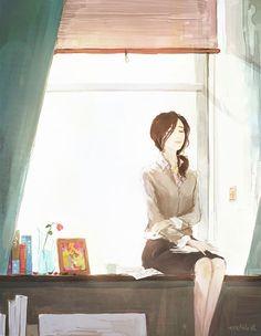 .   유난히 따스한 날  그대 미소처럼 눈이 부신 날  난 햇살 속에서 그대를 생각해요    종일 이곳에 앉아  그대가 곁에 있는 것 만 같아  또 슬픈여자가 되어 버렸네요    그토록 영원하길 기도했는데  이젠 이 마음 정말 영원할 까봐  겁이 나네요    .