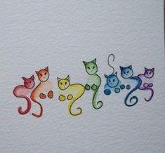 drawing colorful cats Crochet The post Doodling cats . drawing colorful cats Crochet # appeared first on Katzen. Doodle Art, Cat Doodle, Cat Colors, Watercolor Cards, Watercolour, Watercolor Tattoo, Rock Art, Cat Art, Painting & Drawing
