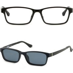 Mens Womens Magnetic Snap Clip on Frame Prescription Glasses RX Sunglasses Black #Unbranded