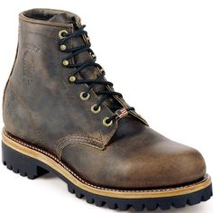 25290 Chippewa Men's Super Work Loggers - Brown