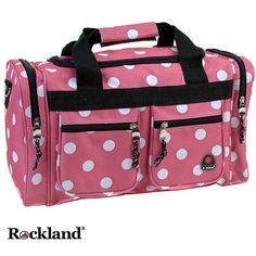 Complement your Rockland Luggage collection with this carry-on tote bagStylish fabric bag will turn heads anywhere your travels take youTravel bag features heavy-duty 600 denier polyester construction