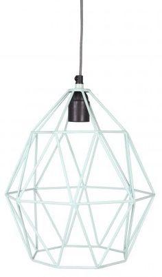 Merk: KidsDepot Afmeting: 27 x 27 x 37 cm Kleur: Roze en mint Materiaal: Metaal Leuke hanglamp voor de kamer van uw kleine. De lamp bevat een E27 fitting en kan gebruikt worden met een lichtbron van maximaal 40 watt. Het ontwerp van de hanglamp bestaat uit dikke metalen draden.