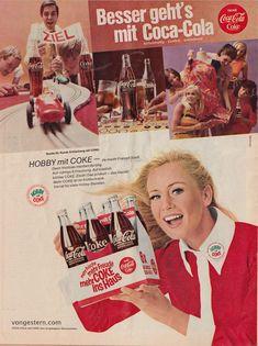 coca cola werbung | Coca Cola-Werbung 1968: mehr Frische, mehr Freude, mehr COKE ins Haus.