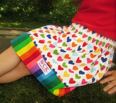 I love rainbows   Skirt  18 mos 24 mos 2T 3T 4T by wickedcutekidz