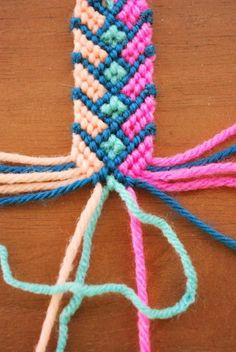 crazy friendship bracelet ... want to try this with my kids.