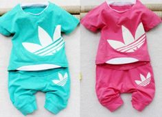 Adidas spring track suits, love the pink!