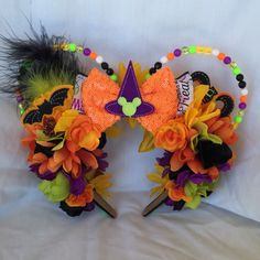 Excited to share the latest addition to my shop: Halloween Minnie mouse ears, Halloween Minnie ears, Not so scary Minnie ears, Halloween mouse ears, Not so scary Minnie mouse ears Disney Halloween Ears, Disney Ears, Mouse Ears, Minnie Mouse, Scary, Wreaths, Etsy Shop, Unique Jewelry, Handmade Gifts