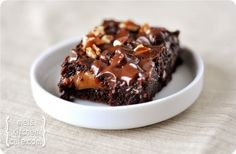 carmel brownie