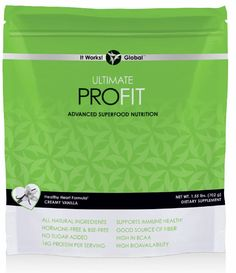 """Whether your goal is weight loss, athletic performance, or a simple way to eat healthy, Ultimate ProFIT Superfood Nutrition Mix offers a superior blend of proteins, mood-elevating """"superfoods,"""" and fiber to improve results. Retail: $99 Loyal Customer: $69 www.BellaItWorks.com"""