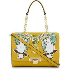 Aldo Daiano tropical shoulder bag ($54) ❤ liked on Polyvore featuring bags, handbags, shoulder bags, white crossbody purse, chain shoulder bag, white crossbody, man shoulder bag and aldo purses