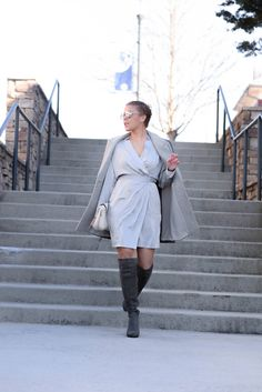 Silk Wrap Dress via