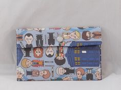 Fabric Pouch Made With Dr. Who Inspired Fabric