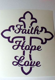 Faith Hope Love Cross Vinyl Decal Sticker Car Window Glass Block  Handmade #Handmade                                                                                                                                                                                 More