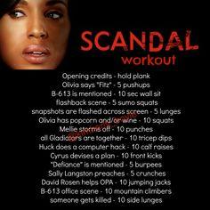 Scandal workout - Olivia Pope, OPA Gladiators tv workout