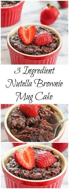 3 Ingredient Nutella Brownie Mug Cake  | Kirbie's Cravings | A San Diego food blog - http://tassenkuchen-selber-machen.de/allgemein/3-ingredient-nutella-brownie-mug-cake-kirbies-cravings-a-san-diego-food-blog/