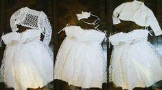 White.. #vestitobianco #abitocerimonia #babyfashion #babydress #handmade #wedding #battesimo #платьедлядевочки #крестильноеплатье #artigianato #cotton #crochetlace #knitting by italiyarn