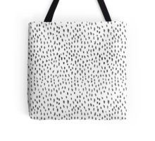 Tote Bag on Redbubble - watercolour black dashes and dots - stylish fashionable - cool