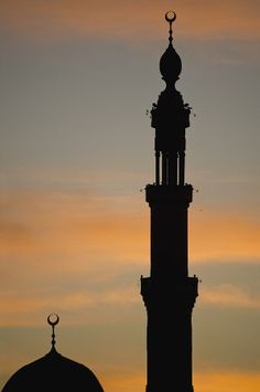 Silhouette Of Mosque At Dawn