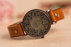 Leather Watch (WAT0041-BROWN). $19.99, via Etsy.