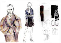 Fashion Sketchbook pages, fashion illustrations & fabrics, fashion design portfolio // Lauren Hunt
