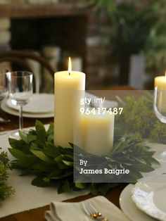 Add some lavender in there leaf and candle centerpiece